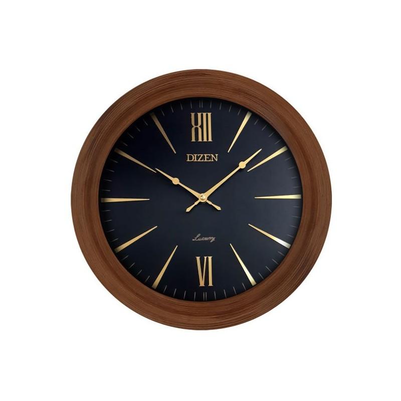 ساعت دیواری گرد چوبی